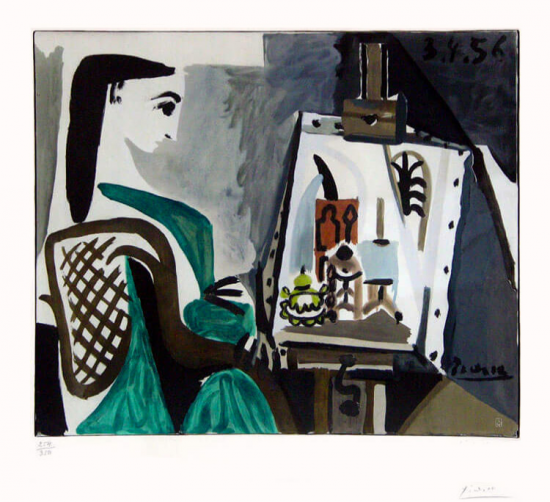 picasso jaqueline roque at the easel