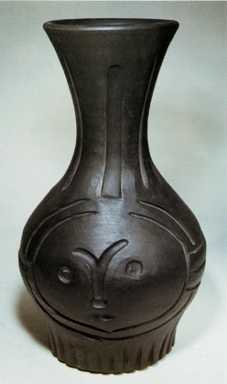 Black Engraved Face, 1953