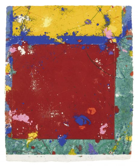 Sam Francis Monotype, Untitled, 1981