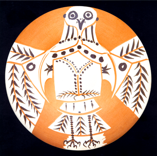 White Owl on Red Ground, 1957