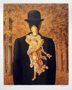 René Magritte Lithograph, The Ready-Made Bouquet