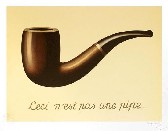 René Magritte Lithograph, This Is Not a Pipe