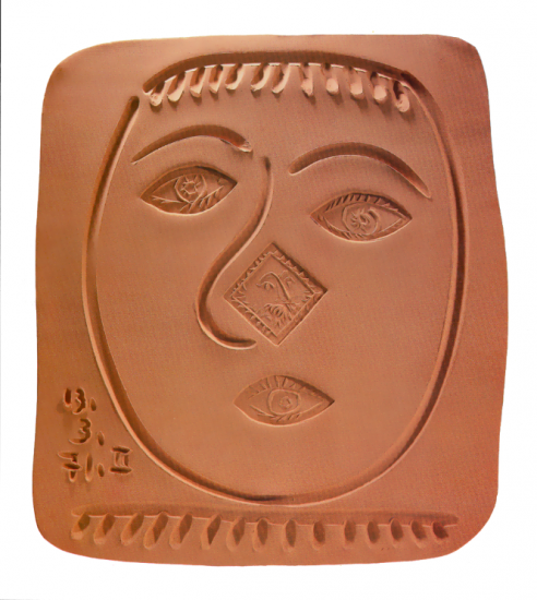 Face with Round Nose, 1971