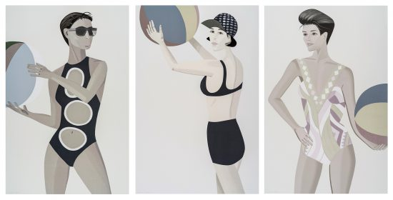 Alex Katz Lithograph, Chance, 2016 (Anne, Vivien, Darinka) , Set of Three