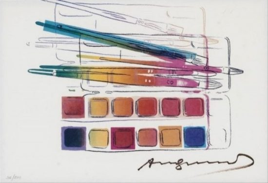 Watercolor Paint Kit With Brushes 1982