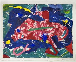 Sam Francis Monotype, Sam Francis Monotype Untitled, 1986
