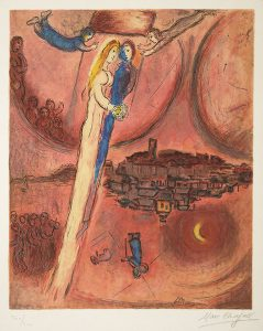 Marc Chagall Lithograph, Le Cantique des Cantiques (The Song of Songs), 1975