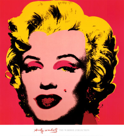 Andy Warhol Marilyn Monroe, red background