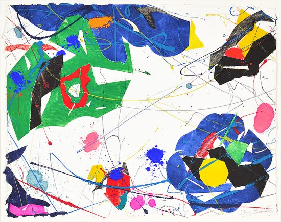 Sam Francis Monotype, Untitled, 1985