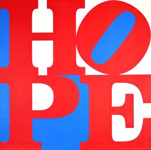 Robert Indiana Painting, Hope, 2008