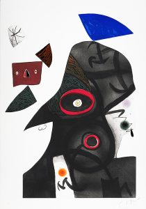Joan Miró Etching, The Egyptian, 1977