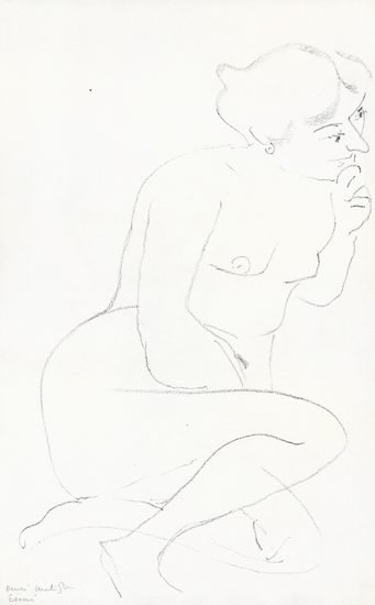 Henri Matisse Lithograph, Nu assis, main tenant le menton (Seated Nude, Holding Chin), 1906
