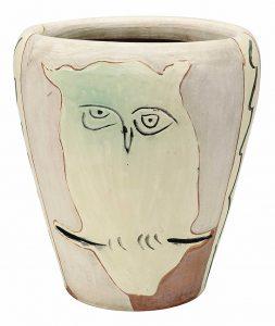 Pablo Picasso Ceramic, Visage et Hibou (Face and Owl),1958