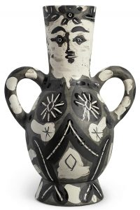 Pablo Picasso Ceramic, Vase deux anses hautes (Vase with Two High Handles), 1952