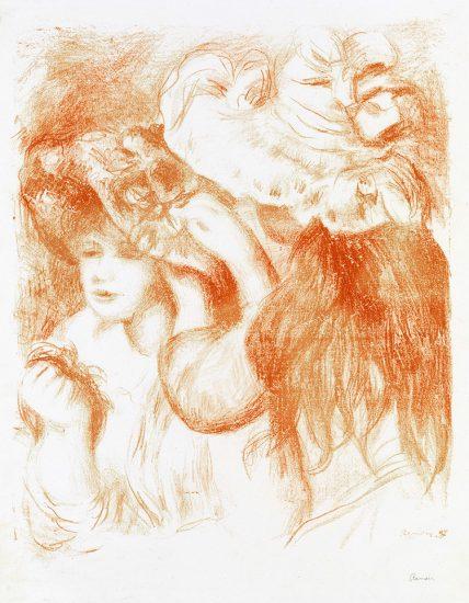 Pierre-Auguste Renoir Lithograph, Le Chapeau Epinglé (The Hat Secured with a Pin), 1e planche, 1897