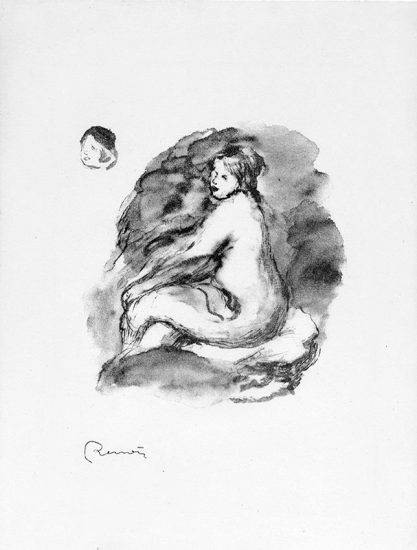 Pierre-Auguste Renoir Lithograph, Etude de femme nue, assise, variante (Study of Seated Female Nude), c. 1904
