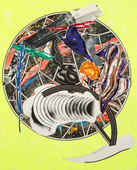 Frank Stella Silkscreen, The Whale as a Dish from Waves II, 1989