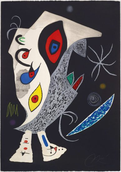 Joan Miró Etching, Barbarian in the Night, 1976