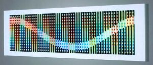 Yaacov Agam Screen Print, Yaacov Agam Rainbow Rhythm c. 1994-1996, Polymorphic Screenprint