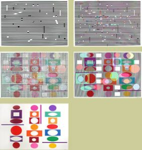Yaacov Agam Serigraph, Double Metamorphosis II (Suite of 5), c. 1980