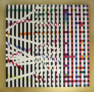 Yaacov Agam Serigraph, Multi-Mag Rhythm, c. 1990