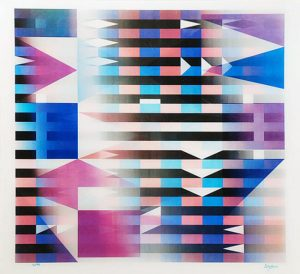 Yaacov Agam Agamograph, Meridia from Mexico Suite, 1985