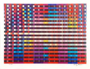 Yaacov Agam Agamograph, Birthday Rainbow from La Gamme d'Agam Suite, 1993