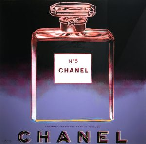 Andy Warhol Screen Print, Chanel from Ads Series 1985