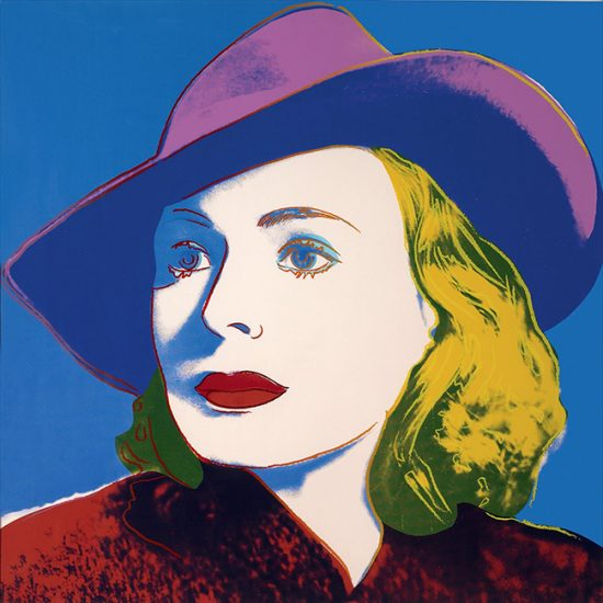 Andy Warhol Lithograph, Ingrid Bergman With Hat, 1983