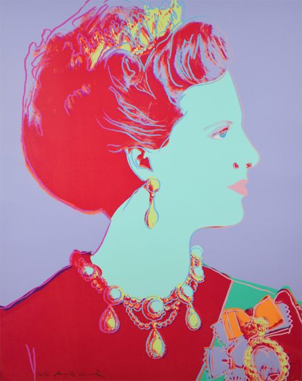 Andy Warhol Screen Print, Reigning Queens Series, Queen Margrethe II of Denmark, 1985 (Copy)