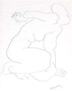 Alexander Archipenko Drawing, Untitled Study