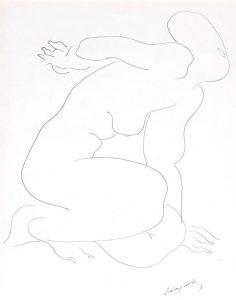 Alexander Archipenko Drawing, Untitled Study