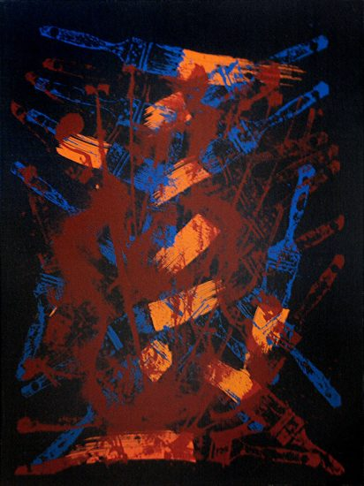 Arman Lithograph, Komposition Med Penslar, 1992