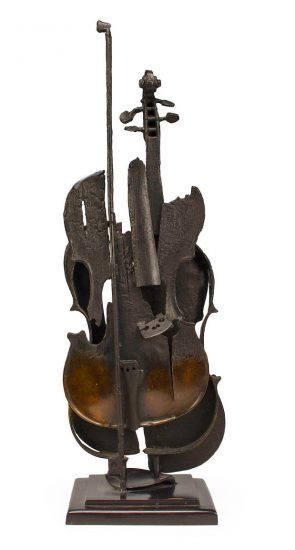 Arman Sculpture, Untitled (Violon Brule I), 2004