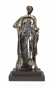 Arman Sculpture, Standing in bronze figure (Spliced Venus), C. 1990