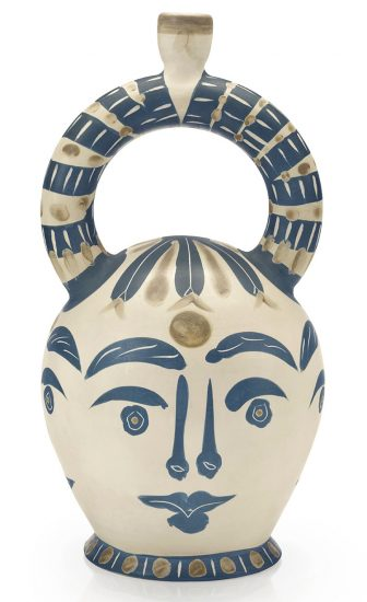 Pablo Picasso Ceramic, Vase Aztèque aux Quatre Visages (Aztec Vase with Four Faces), 1957 A.R. 402