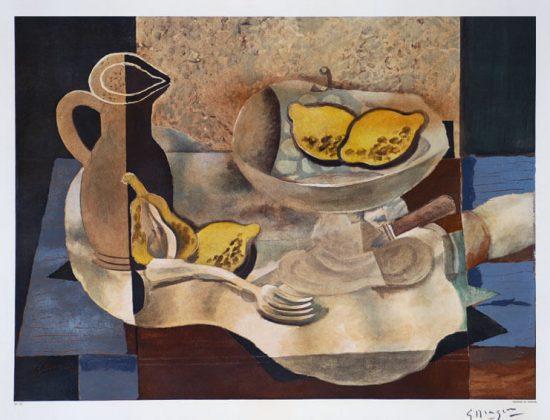 Georges Braque Lithograph, Nature morte (avec un pichet et citrons) [Still Life with Pitcher and Lemons], c.1950