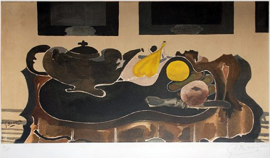 Georges Braque Lithograph, Nature Morte, c. 1950