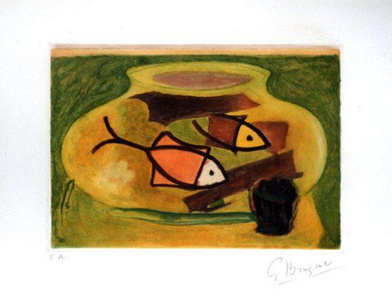 Georges Braque Etching, L'Aquarium