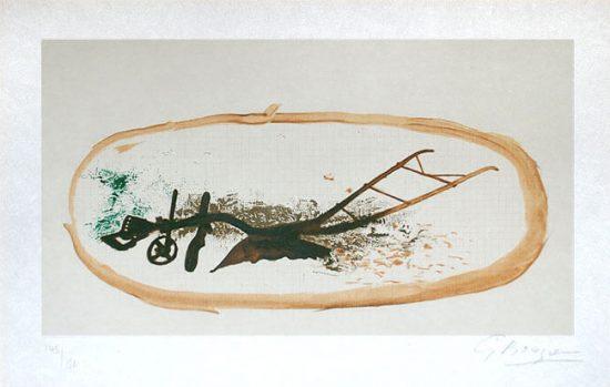 Georges Braque Lithograph, La Charrue (The Plough), 1960