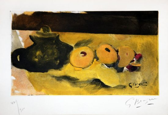 Georges Braque Lithograph, La Nappe Jaune (The Yellow Tablecloth), c.1956