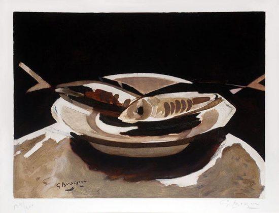 Georges Braque Etching, Poissons (Fish), c. 1956