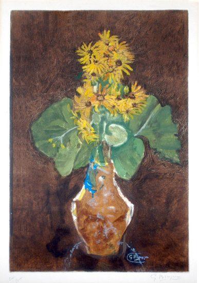 Georges Braque Etching, Les Marguerites (Daisies), c. 1950