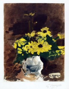 Georges Braque, Vase de Fleurs Jaunes (Vase of Yellow Flowers), 1960