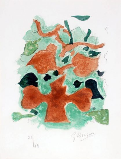 Georges Braque Lithograph, La Forêt (The Forest) from Lettera amorosa, 1963