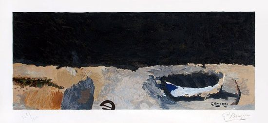 Georges Braque Lithograph, La barque sur la greve (The Boat on the Shore), 1960