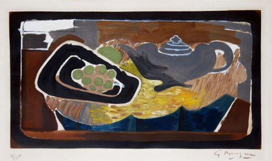 Georges Braque Lithograph, Théière et Raisin (Teapot and Grape), 1950