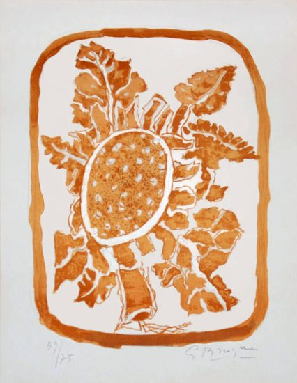 Georges Braque Lithograph, Fleur d'automne (Autumn Flower), c. 1950