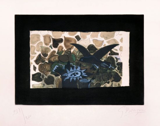 Georges Braque Lithograph, Le nid vert (The Green Nest), 1950