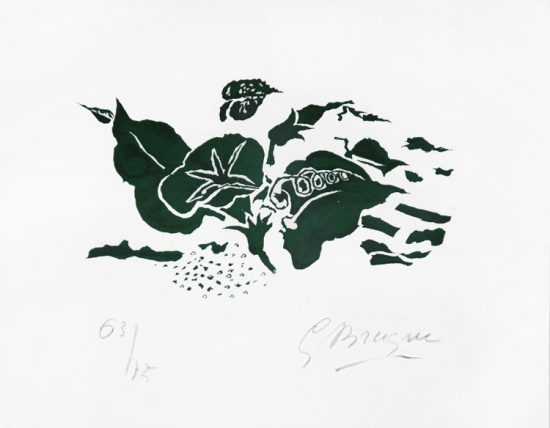 Georges Braque Lithograph, Le Liseron vert from Lettera amorosa, 1963